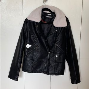 Brand new Steve Madden faux Sherpa leather jacket